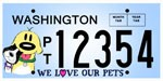 Washington Federation License Plate